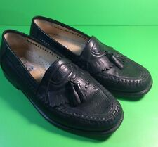 SAN REMO of ITALY MEN'S APOLLO BLACK  LOAFER TASSEL SHOES 8M
