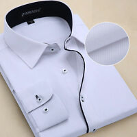 Camisas Mens Dress Shirts Luxury Casual Slim Fit Long Sleeve Multicolor OT6301
