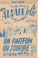LIVRET PARTITION *EN ALSACE JOLIE* & *UN PARFUM UN SOURIRE* (VALSE)