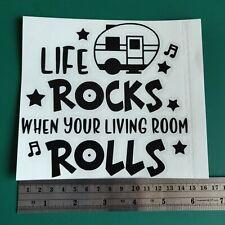 Life Rocks Caravan logo - Camper/Car/Van/Fridge/Laptop Vinyl Decal Sticker