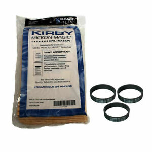 Kirby NEW 9 Micron Vacuum Cleaner Bags G4 & G5 with 3x 301291 belts