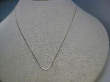 """Vintage Sterling Silver 20"""" Box Chain Necklace, 1.5mm, Italy, HAN, 2.02 gr."""