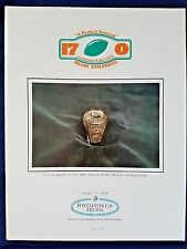 Miami Dolphins 1972 Perfect season anniversary reunion (7 yr)program beautiful!