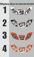 Graphic for 2007-2010 KTM SX 125-250 sxf 250-450 Number Plates Side Panels Decal