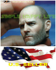 ❶❶1/6 Head Sculpt 2.0 Jason Statham The Expendables Lee Christmas Hot toys USA❶❶