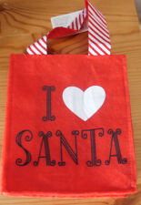 I Heart Santa Hallmark Red w/Black Letters Felt Small Gift Bag – It's reusable!
