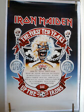 RARE IRON MAIDEN 1ST TEN YEARS UP THE IRONS 1990 VINTAGE ORIGINAL MUSIC POSTER