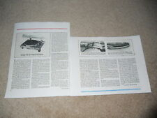 Sony PS-X7 Turntable Review, 2 pg, 1977, Full Test