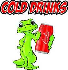 """Cold Drinks Decal 14"""" Cola Soda Pop Food Truck Cart Concession Vinyl Sticker"""