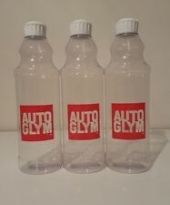 Autoglym Flip Top Dressing Bottles 500ml Valeting x3