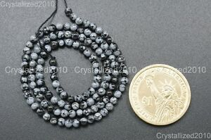 Natural Snow Flake Obsidian Gemstone Round Beads 3mm 6mm 8mm 10mm 12mm 15.5''