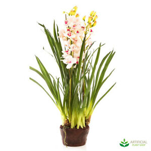 Artificial Fake Plants Light Pink Orchid 1.1m with paper pot