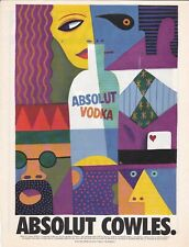 ABSOLUT COWLES. Absolut Vodka print ad 1997