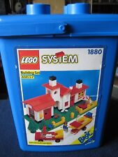 Lego Toy Storage Container.1987 Empty Blue Plastic Bucket Only!