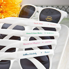 90 - Personalized White Sunglasses - Beach Themed Wedding and Party Favor