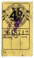 (I.B) North Eastern Railway : Parcel Stamp 4d