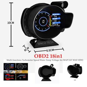 DO916 OBDII Dash Speed RPM Water Temperature Voltage Digital Display Durable