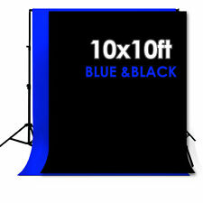 10 X 10FT Chromakey BLUE&BLACK Screen Muslin Backdrop Photo Photography Backgrou