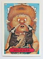 GARBAGE PAIL KIDS 1A BONE HEAD ED STICKER CARD WITH PUZZLE PIECE & CASE GPK-48