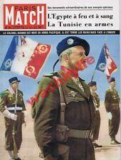 Paris Match n°151 - 09/02/1952 Tunisie Bourguiba Egypte Otéro Givenchy de Lattre