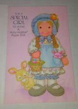 Vintage 1979 American Greetings Holly Hobbie Paper Doll Easter Greeting Card