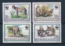 [54093] Burundi 1992 Wild animals Mammals WWF Cerval MNH