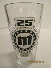 Pint Beer Glass 2008 Mighty Mite Triathlon Forrest City, Ar 25th Anniversary