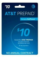 AT&T Prepaid $10 Refill Top-Up Prepaid Card / DIRECT FAST RECHARGE!!!