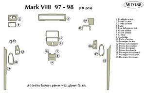 LINCOLN MARK VIII 1997 1998 DASH TRIM KIT