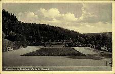Braunlage Niedersachsen Oberharz Harz 1933 Partie im Kurpark Parkanlage Park Kur
