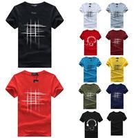 Summer Mens Short Sleeve Line Print T-Shirt Harajuku 3D Funny Tee shirts Hipster
