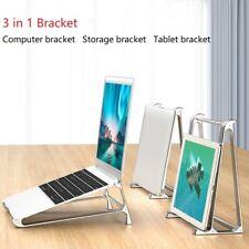 For Computer Laptop Tablet Stand Holder Mount Aluminum Riser Height Adjustment