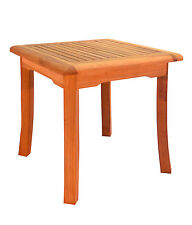 "21"" TEAK WOOD SIDE SQUARE TABLE END STOOL BATH SHOWER SPA OUTDOOR INDOOR NAPA"