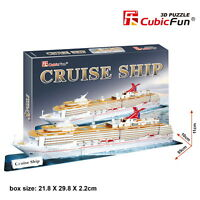 CubicFun 3D Puzzle Paper Model Cruise Ship T4006h 86 pcs DIY Jigsaw Toys