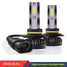 2x 20W 6000K COB Chip 360° View 9012 LED Headlight Bulb High/Low Beam Brighter