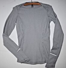 Lululemon Running Long Sleeves Athletic Workout Top Gray 4