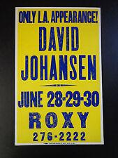 David Johansen At The Roxy - Original Vintage Concert Promotion Poster