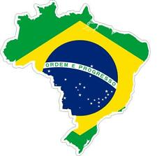 Sticker car moto map flag vinyl outside wall decal macbbook brazil brazilian