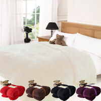 Luxury Teddy Bear Fleece Blanket Throw for Sofa Bed Couch Double King Size Large