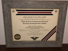 RESERVE COMPONENTS OVERSEAS TRAINING COMMEMORATIVE RIBBON CERTIFICATE ~Type 1