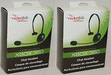 2 x RocketFish XBOX 360 Live Gaming RF-GXB1301 Chat HEADSETS Noise Reducing Mic