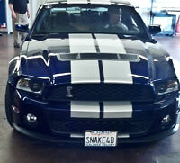 2013 2014 Mustang Shelby GT500 Polished//Chrome finished Fender Cobra Wing Emblem