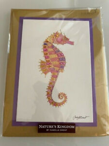 Papyrus Nature's Kingdom by Isabelle Brent Beautiful Jeweled Seahorse Blank Card