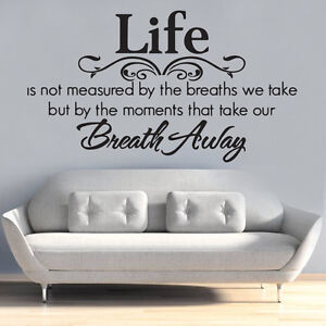 life best moment take our breath away bedroom Quote Wall Stickers Art Decals DIY