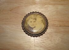 Vintage Antique Victorian Woman & Baby Mourning Brooch Pin