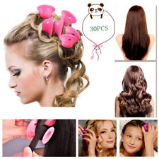 30pcs Pink Magic Hair Rollers Silicone Soft Hair Curlers Styling Curling Tool