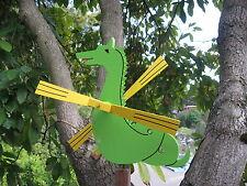 GREEN Dragon/Seahorse wooden whirligig