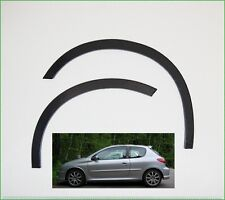Wing & Quater Wheel Arch Trim  PEUGEOT 206 (1998 - 2012) set 4 pcs. Black Matt