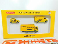 BX272-0,5# Wiking PMS 1:87/H0 81-11 Set Aktie Gelb: VW + MB + Iveco, NEUW+OVP