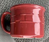 Large LONGABERGER Paprika RED Multi-Use Woven Traditions 16 oz Soup / Coffee MUG